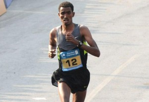 Tesfaye Abera  Mumbai Marathon Photo Vivek Bendre