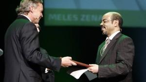 Yara with Mels Zenawi