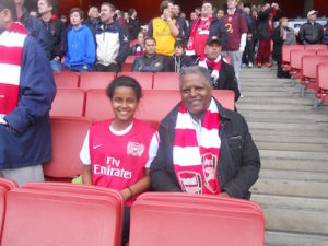 andy-tsege-at-arsenal-game-with-daughter